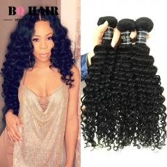 BQ HAIR Grade 8A Brazilian Deep Wave 3 Bundles Human Hair weaves 100g/pc Virgin Remy Hair (10