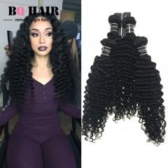 BQ HAIR 8A 4 Bundles Deep Wave Full Head Peruvian Virgin Hair Weave Extension 100G/Bundle (10