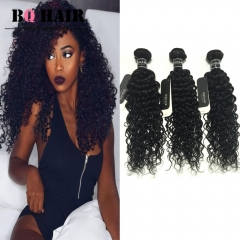 BQ HAIR 8A 3 Bundles Brazilian Unprocessed Virgin Hair Deep Curly No Tangle 100G/Bundle (10