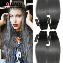 BQ HAIR 8A 4 Bundles/400g 100% Peruvian Human Hair Weave Straight Full Head Set Cheap (10
