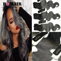 BQ HAIR Ombre 8A Remy Hair 100% Brazilian Virgin Human Hair Body Wave 3 Bundles Extension 100g/pc 1b dark grey 10 10 10