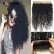 BQ HAIR 8A 360 Lace Frontal Closure Brazilian Human Hair Pieces Kinky Curly Round Frontal Closure natural black 10 inch 360 lace frontal
