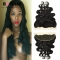"""BQ HAIR Grade 8A 100% Unprocessed Virgin Hair Body Wave Style 13*4 Lace Frontal Human Hair (10""""~22"""") natural black 16 inch lace frontal"""