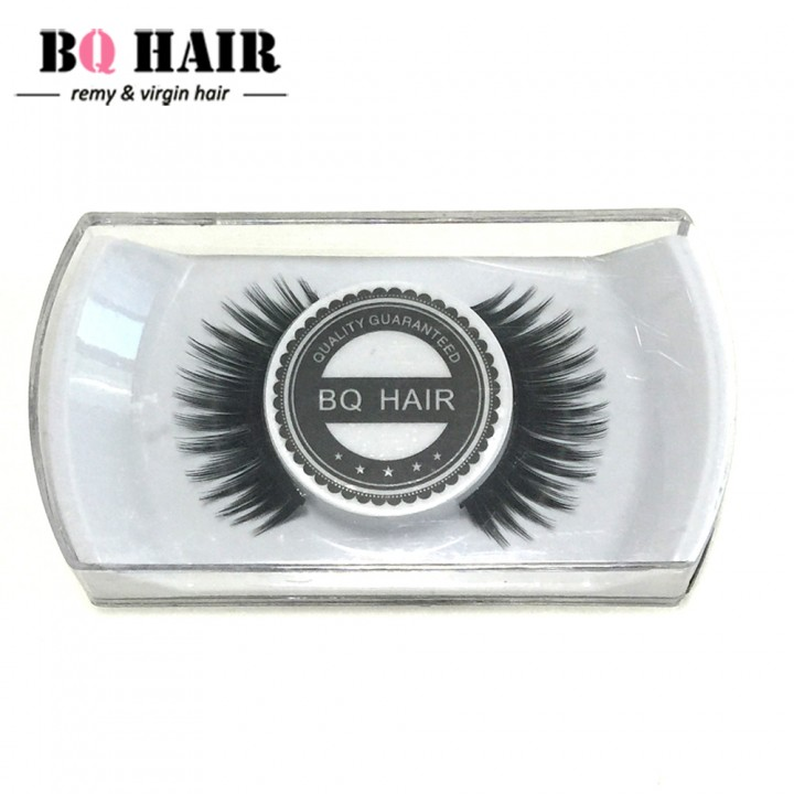 BQ HAIR New False Eyelashes Handmade Black Long Thick Natural Fake Eye Lashes Extension As a Gift Black 1cm