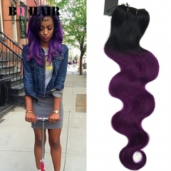 BQ HAIR New Arrival 100% Brazilian Virigin Hair Body Wave Style Human Hair 1pc/100g Cheap 1b-purple 10 inch