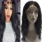 "BQ HAIR Easy to Use 130% Density 100% Virgin Human Hair Body Wave Lace Front Wig (10""~24"") natural black 10 inch"