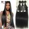 BQ HAIR Grade 8A Virgin Hair Raw Indian Hair 3 bundles soft and silky straight human hair weaves nature black 18 18 18