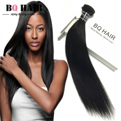 BQ HAIR Top 7A Brazilian Straight Human Hair 100g/pc Natural Black Color Great Deals nature black 14 inch