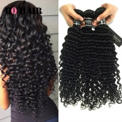 BQ HAIR 1pc Top 7A Brazilian Human Hair Deep Wave 100g/pc Black Friday Deals nature black 10 inch