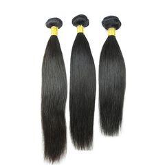 BQ HAIR Top 7A 3 Bundles Brazilian Straight 100% Virgin Human Hair nature black 12 12 12