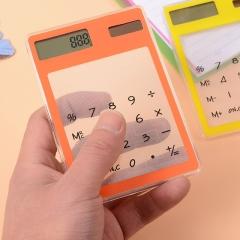 Portable LCD 8 Digit Touch Screen Ultra slim Transparent Solar Calculator Scientific Calculator