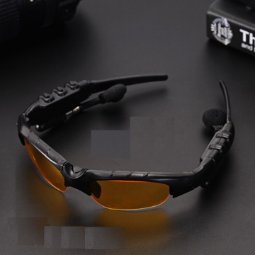4.1 Sunglasses Bluetooth Headset Outdoor Glasses Earbuds Music with Mic Stereo Wireless Headphone Yellow Normal