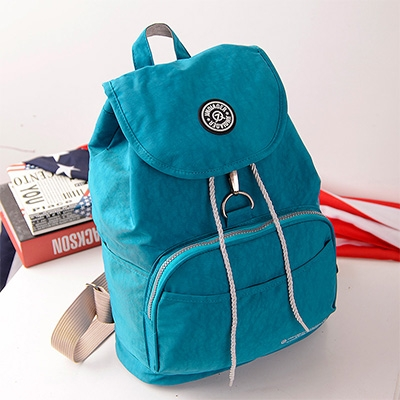 ac09f192bf56 Preppy Style Women Backpack Waterproof Nylon Backpack 10 ColorsFemale  Casual Travel Bag sea blue 29