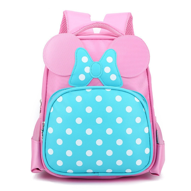 Cartoon Kids School Backpack For Child School Bags For Kindergarten Girls pink