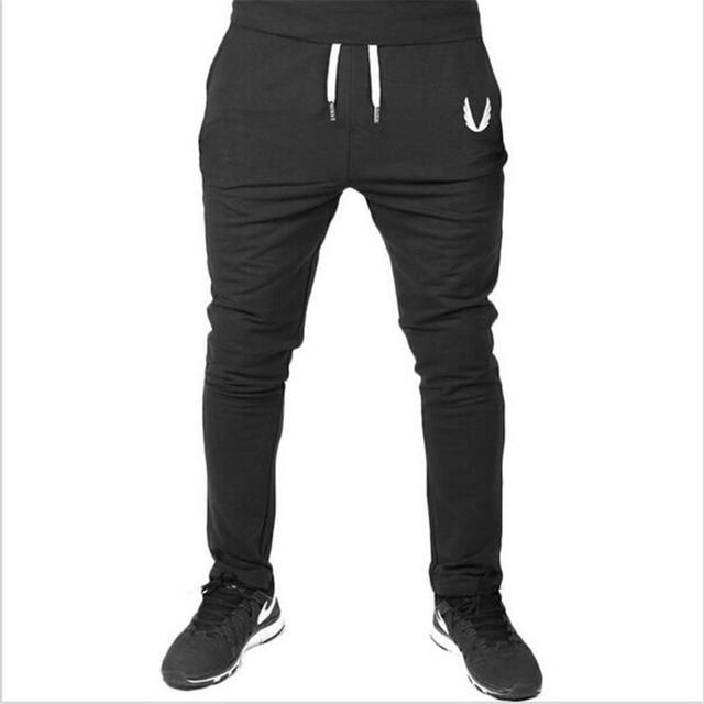 Men Casual Elastic cotton Mens Fitness Workout Pants skinny,Sweatpants Trousers Jogger Pants black XXL