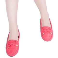 Women Flat Shoes Fashion Summer Spring Bowtie Loafers Ladies Suede Slip On Lady Ballet Shoes red 39