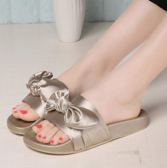 b75c02888a6798 Women Summer Beach Shoes Woman No Fur Slippers Flat Heels Flip Flops Ladies  Bohemia Sandals gold 39  Product No  666941. Item specifics  Brand