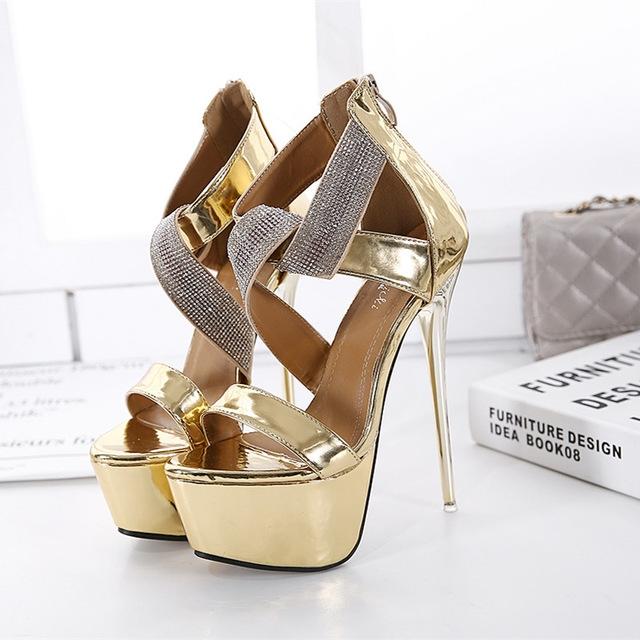 4f6b4b13d3a Kilimall  2017 NEW Women Sandals Plus Size 34-40 Fashion Zip High ...