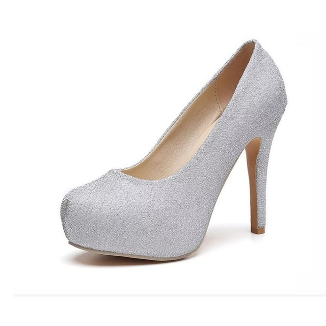 ca4dcfe71df Fashion High Heels Shoes Woman Round Toe Women Pumps Platform Shoes Zapatos  Mujer Sexy Ladies Shoes silver us 6.5  Product No  722712. Item specifics   Brand ...