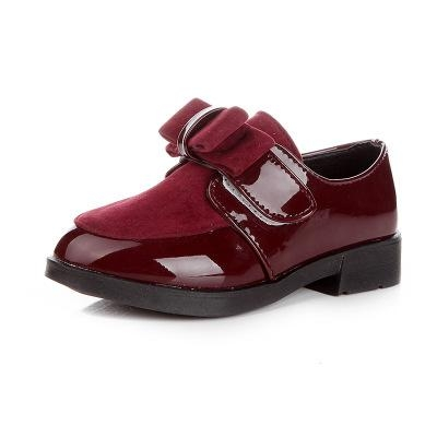 Girls Shoes Fashion Pu Leather Princess Single Shoes Kids Breathable Girls  Dress Shoes wine red us f4fe1dffc8d3
