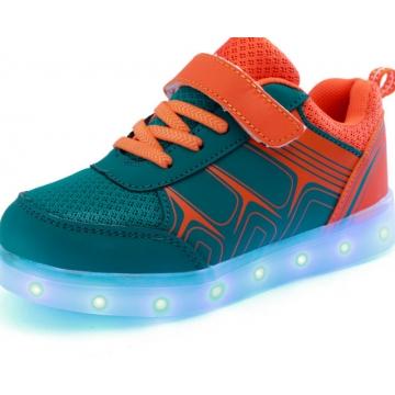2017 New Magic Lamp Light Shoes Children's Shoes Led USB Shoes Led Shoes Wholesale Sneaker orange us 11