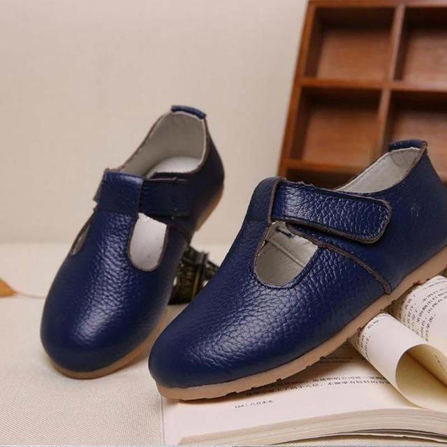 Children Shoes Girls Shoes Princess Girls Fashion Sneaker Princess Kids  Soft Sole Leather Flats dark blue 2772deb90abd