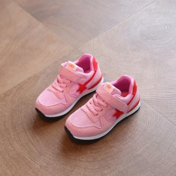 New Boys Girls Mesh Sneakers Children Shoes Breathable Running Shoes For Kids Flats pink us 1