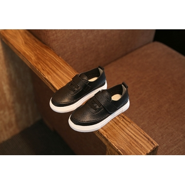 Rubber Soles Kids Super Soft High Quality Leather Sneakers Girls Boys Walking Shoes black us 9.5