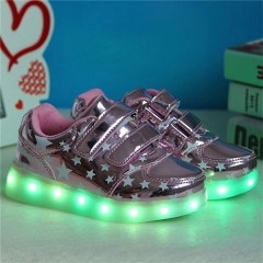 2017 New Kids Boys Girls USB Charger Led Light Shoes Fashion Luminous Sneakers 01 us 1