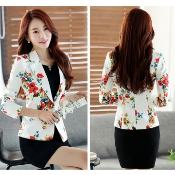 Ladies Short Suit Jackets In Women Blazer Elegant Double Breasted Blazer Women Business Suit Blouson #1 xxl