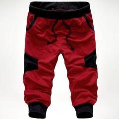 Men's feet pants new summer men's casual pants tide brand personality fashion pants red xxxl