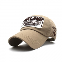 Spring Cotton Cap Baseball Cap Summer Cap Hip Hop Fitted Cap Hats For Men Women Grinding Multicolor Khaki one  size