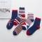 1Pair New Cotton British stripe flag socks men's Leisure socks Multi-color High quality Hot Sale Random normal normal