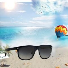 Magnesium Polarized Men Sunglasses Vintage Eyewear Accessories Sun Glasses black one  size