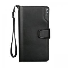 Baellerry Men Wallets Leather Men Purse Fashion Wallet Clutch Bag Long Male Wallet Hand Bag Card Holder carteira MWS002 Black One Size