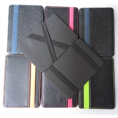High quality PU leather men wallets magic wallets Fashion men credit card holder card wallet FGS01 Black One Size