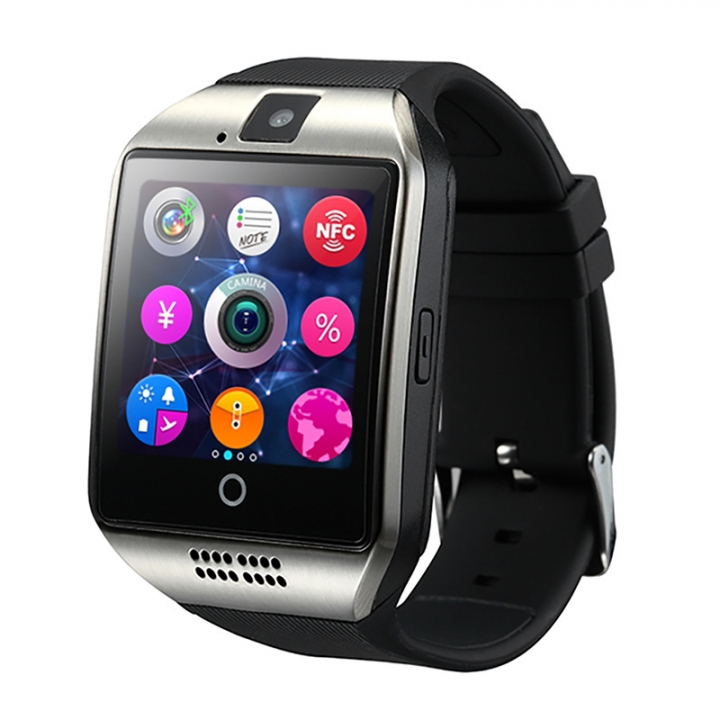 HOT SALE Q18 Smart Watch Bluetooth TF Smart Phone Silver one size