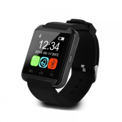 U8 Smart Watch Clock Sync Notifier Support Bluetooth Android Phone Smartwatch black one size