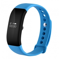 V66 IP67 Waterproof BT4.0 Smartwatch Heart Rate Monitor Wristband Android IOS blue one size