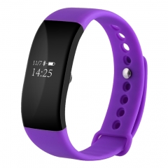 V66 IP67 Waterproof BT4.0 Smartwatch Heart Rate Monitor Wristband Android IOS purple one size