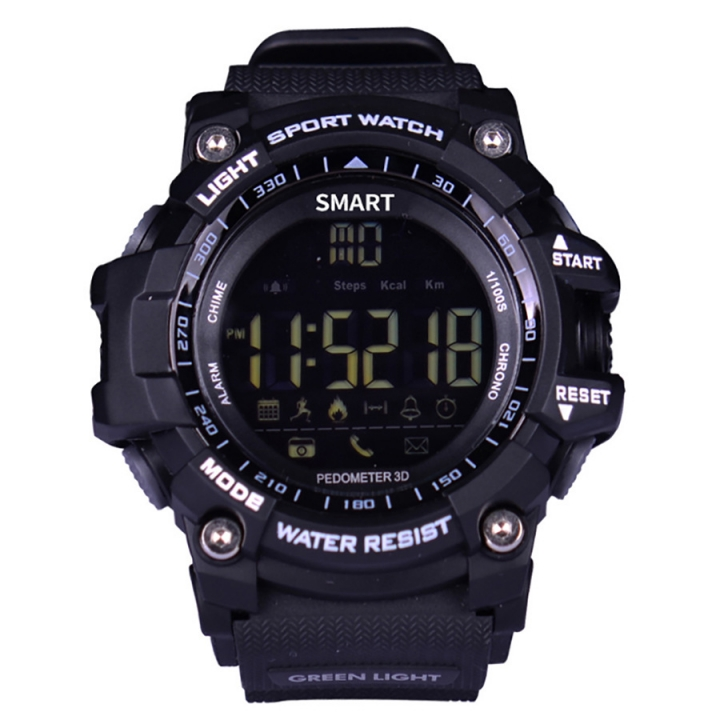 EX16 Smart Watch Men With BT Call/ SMS /Twitter/ Facebook/ Whatsapp/ Skype Reminder Sports Pedometer black one size