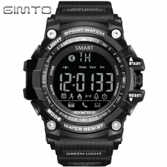 GIMTO GM308 Smart Watch Sport Outdoor Wristwatch Waterproof Bluetooth black one size