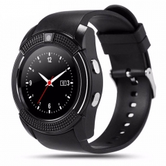Sports Smart Watch V8 Full Screen Bluetooth Smartwatch Support TF SIM Card Anti-lost black one size