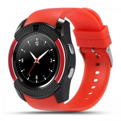 Sports Smart Watch V8 Full Screen Bluetooth Smartwatch Support TF SIM Card Anti-lost red one size