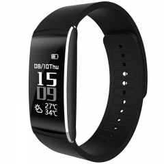 K8 Smart Bracelet Blood Pressure Fitness Tracker Pulse Meter Heart Rate Sleep monitor black one size