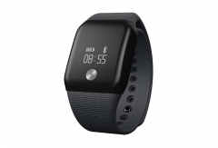 A88 Smart Watch Blood Pressure OLED Touch Screen Waterproof Heart Rate iOS Android black one size