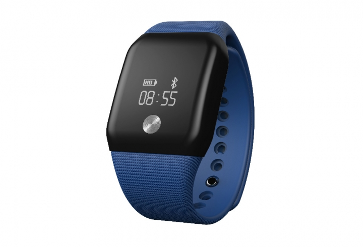 A88 Smart Watch Blood Pressure OLED Touch Screen Waterproof Heart Rate iOS Android blue one size