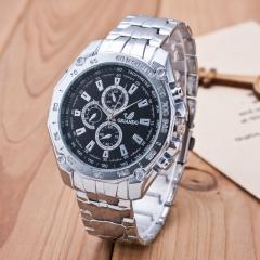 Men's Alloy Band Circular Quartz Watch Multiple Pointer Wrist Watch Cool Watch black one size