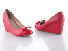 Classic Wedge Ballerinas Ladies Shoes Red 36