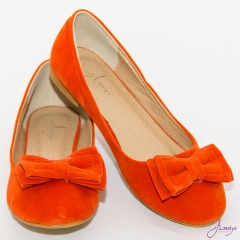 Amaiya Elegance Burnt Orange Bow Doll Ladies Shoes Burnt orange 39